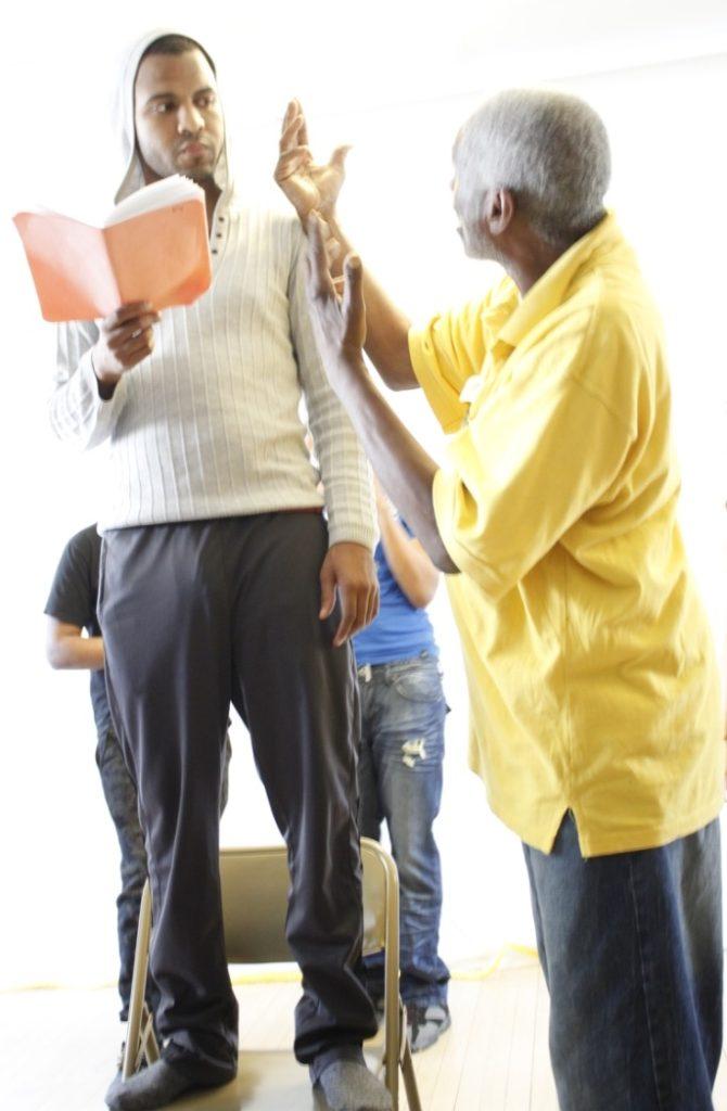 EVERYMAN in rehearsal 2